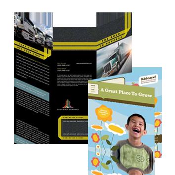 Brochures Tri Fold Brochure Printing Services Rush